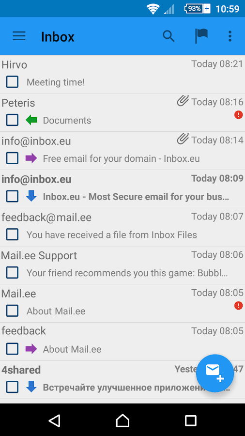 Mail.ee- screenshot