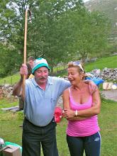 Photo: JOSE NIETO e ISOLINA Afinando la voz, en Galicia contrátanlos en tiempos de sequía para provocar la lluvia; Aquí no tuvieron éxito