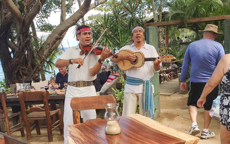 Mariachis perform during lunch at Las Caletas near Puerto Vallarta, Mexico, during a Ruby Princess shore excursion.