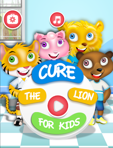 Cure the lion for kids