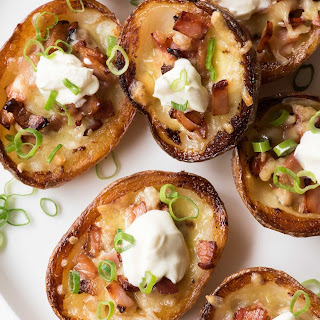 Potato Skins With Cheese And Bacon Sour Cream Recipes