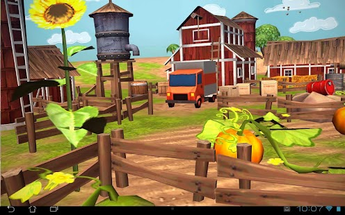 Cartoon Farm 3D Live Wallpaper Screenshot