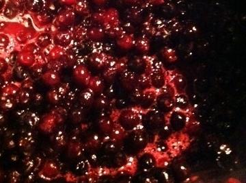 Preheat oven to 400 degree's. Make the Blueberry topping. )If using canned skip this...