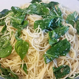 Angel Hair Pasta And Garlic And Spinach Recipes.