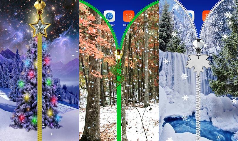 android Winter-Sperre Bildschirm. Screenshot 7