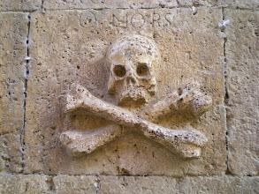 Photo: Etapa 14. Detall calavera. Iglesia de Santo Domingo. Castrojeriz