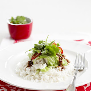 Asian Fish Cabbage Rolls.