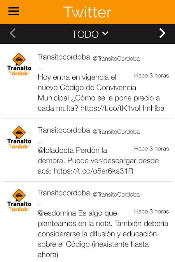 Transito Cordoba- screenshot