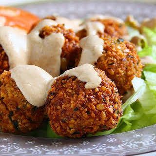 Falafels with Tahini Sauce.