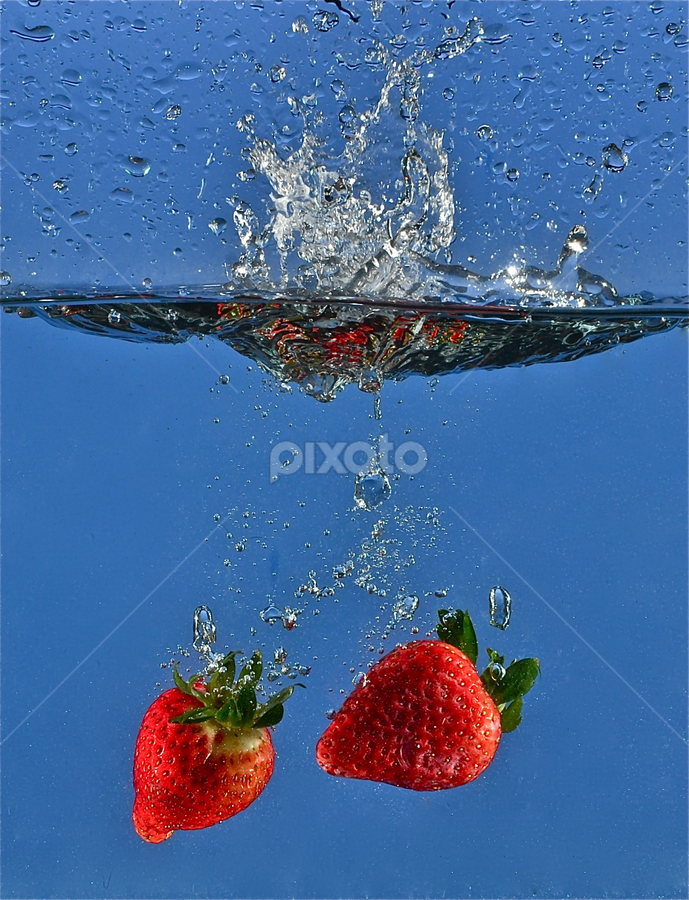 Strawberries Swash... by Craig Luchin - Food & Drink Fruits & Vegetables