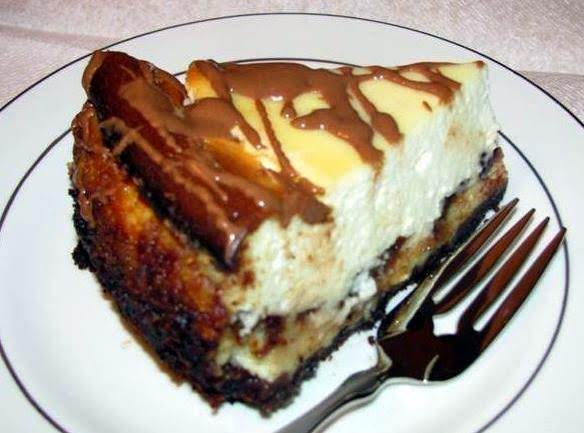 Peanut Butter & Chocolate Chip Layered Cheesecake Recipe