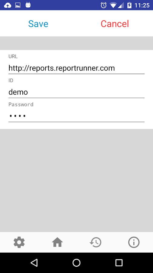 Report Runner for Android- screenshot
