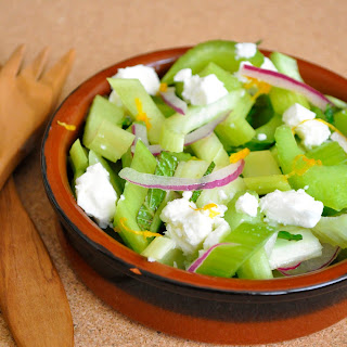 Celery Salad with Feta and Mint.