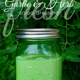 Creamy Fresh Garlic & Parmesan Herb Salad Dressing