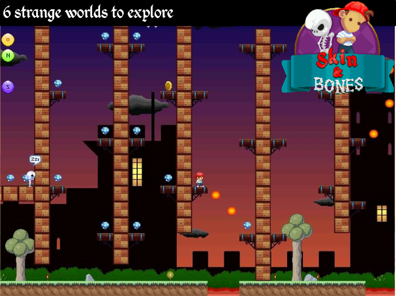Skin and Bones - platform game- screenshot