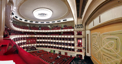 Photo: The view from our seats at the opera.  That's the stage on the right.