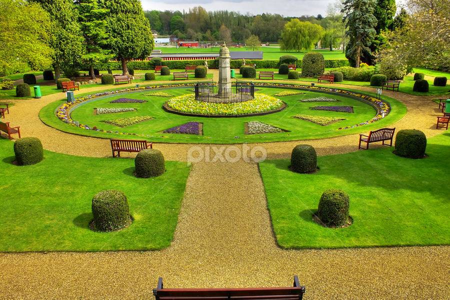 garden by Clayton Jordan - Buildings & Architecture Statues & Monuments ( kettering, memorial, park, hdr, wicksteed park, plants, flowers, garden )