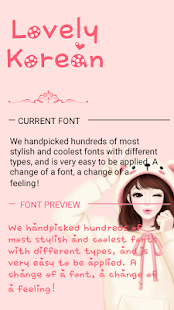 Lovely Korean Font for FlipFont , Cool Fonts Text Apk by Free
