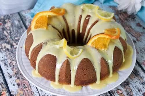 """Citrus Pound Cake with Orange Glaze """"This recipe dates back many many..."""