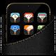 Black Denim Vein Gold Thread Theme (app)
