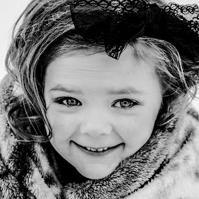 Dressed to the Nines by Vanessa Meyers - Black & White Portraits & People ( winter, black and white, children, smile, portrait,  )