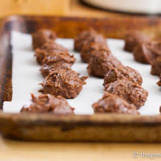 Vegan Chocolate-Peanut Butter No Bake Cookies.