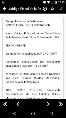 CFF - Código Fiscal de la Fede - screenshot