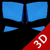 Next Launcher Theme A. Blue 3D