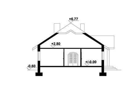 Zadębie średnie 4 + garaż - Przekrój