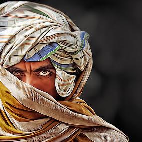 Man stand by Kamran Khan - Digital Art People ( horizontal, digital art, digital painting, portraur, portrait )