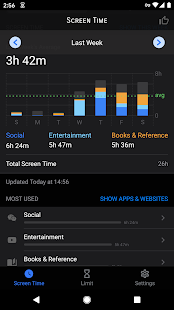 Screen Time Pro Restrain yourself & parent control for PC-Windows 7,8,10 and Mac apk screenshot 1