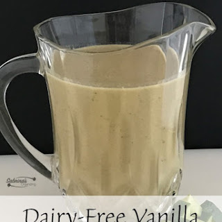 Dairy Free Vanilla Tropical Greens Smoothie.