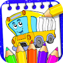 Vehicle Drawing and Coloring Book icon