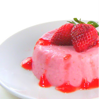 Strawberry Panna Cotta with Strawberry Compote