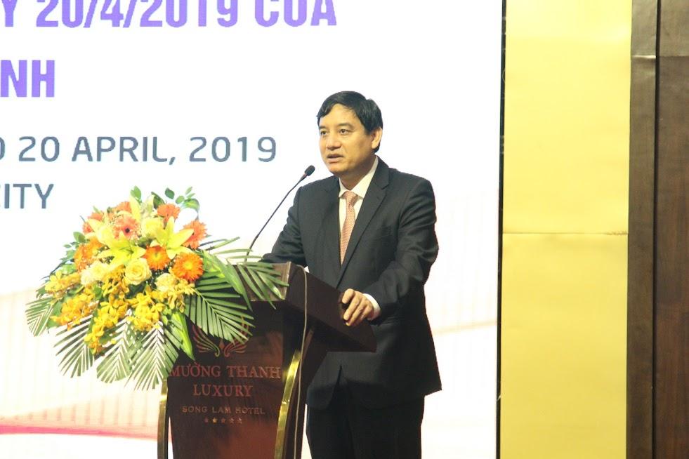Đồng chí Nguyễn Đắc Vinh, Bí thư Tỉnh ủy phát biểu