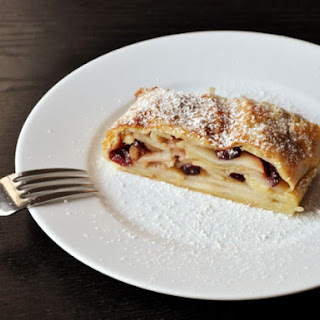 Cranberry Apple Strudel.
