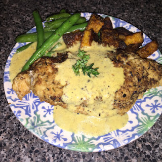 Crispy Chicken with Creamy Mustard Sauce