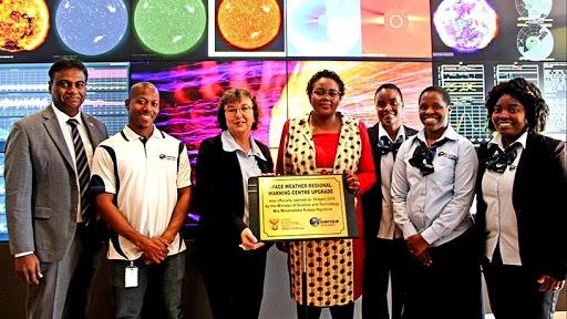 Minister Mmamoloko Kubayi-Ngubane unveiled an upgraded SANSA space weather centre last April.