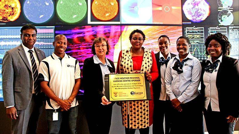 Minister Mmamoloko Kubayi-Ngubane unveiled an upgraded SANSA space weather centre last April.