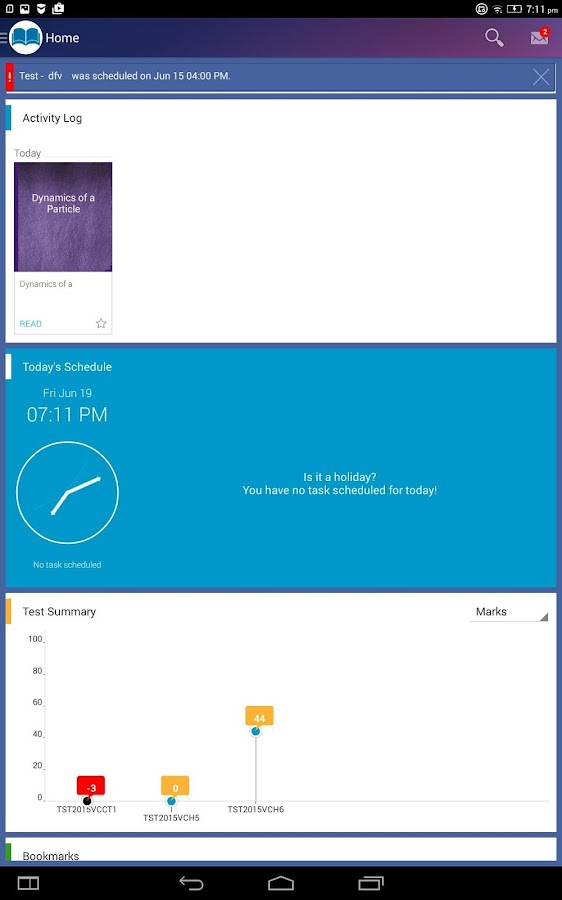Vidyamandir Classes StudentApp- screenshot