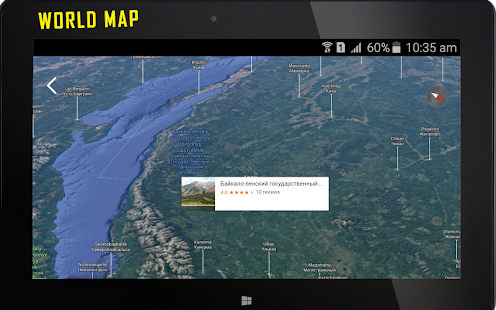 The Best World Map App.  Earth Map Live GPS Navigation Tracking Route screenshot thumbnail Android Apps on
