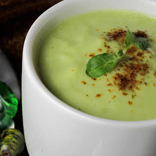 Easy Raw Cucumber Mint Soup.