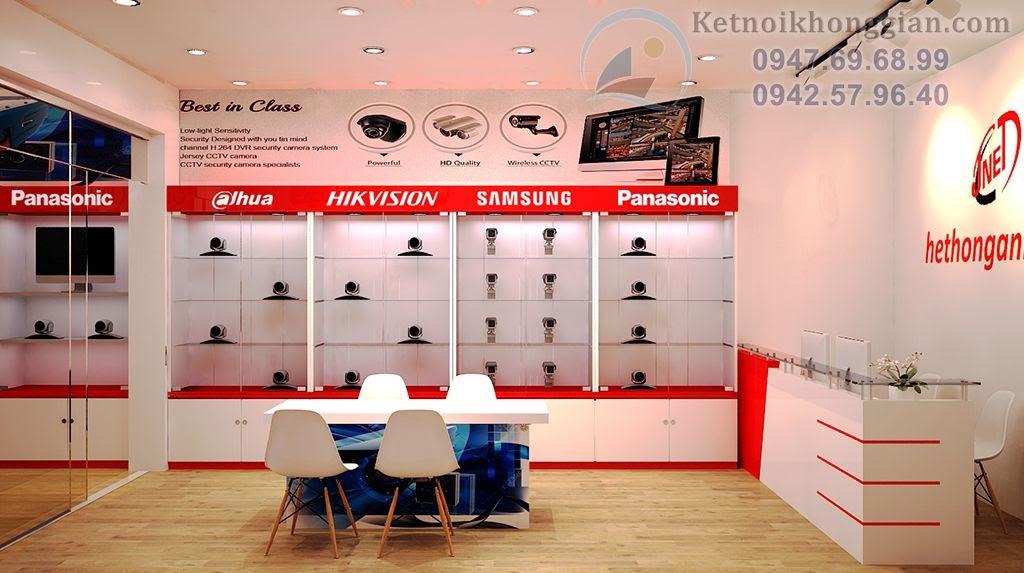 thiết kế cửa hàng camera an ninh tại Thạch Thất Hà Nội