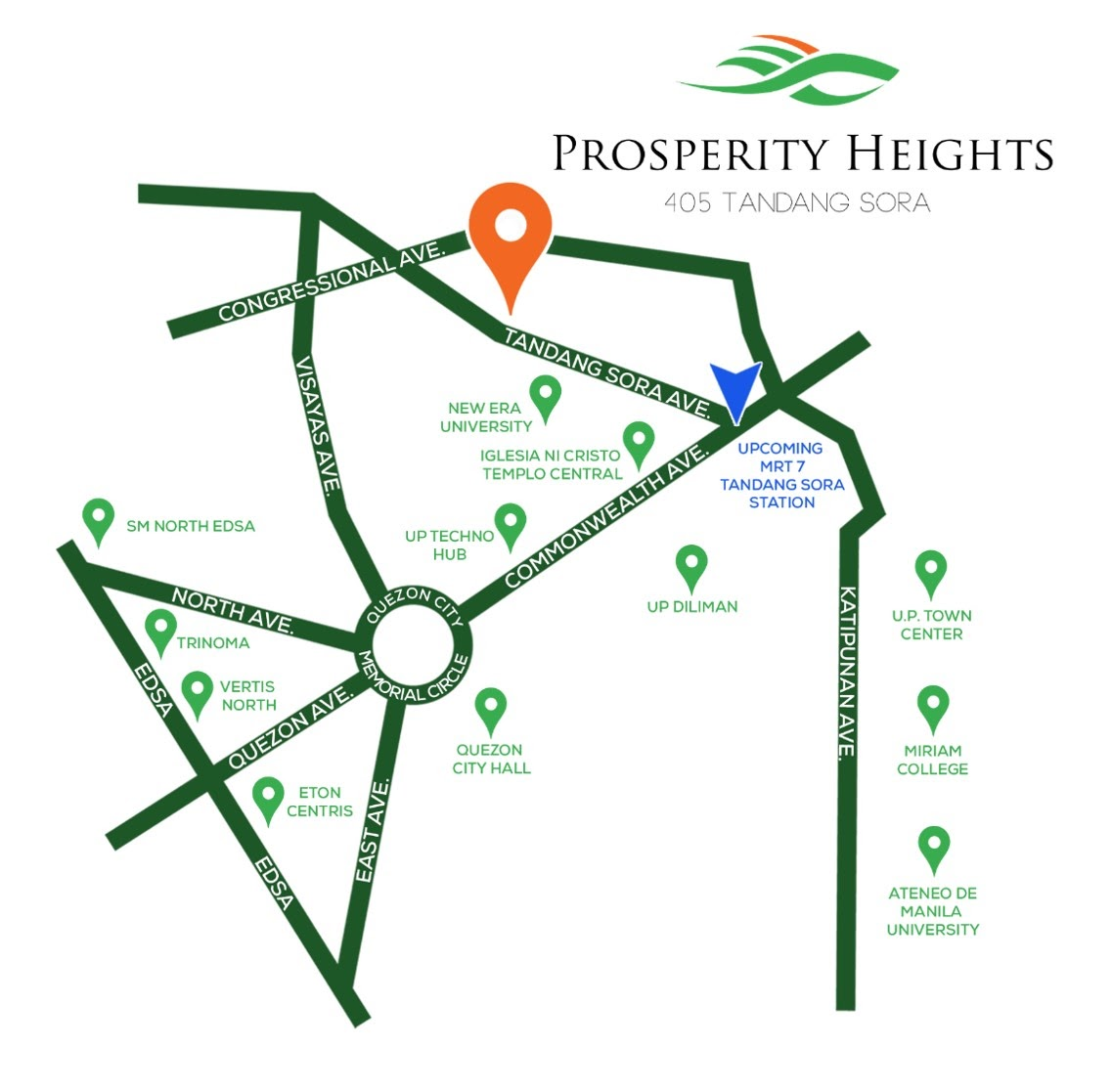 Prosperity Heights location map