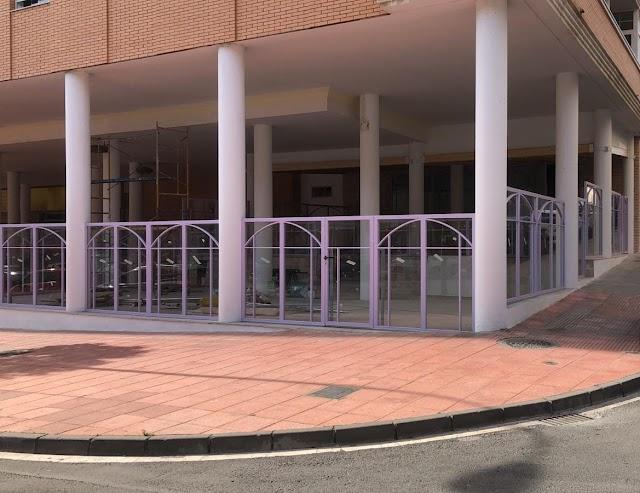 La terraza de  la nueva cafetería.
