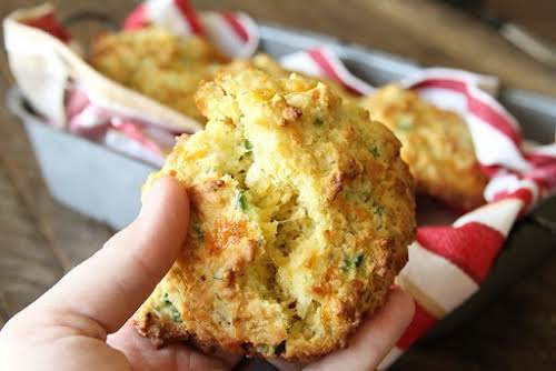 "Cheddar Jalapeño Cornbread Drop Biscuits ""These are seriously my new favorite bread...."