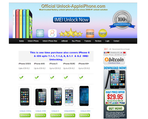 Unlock Apple iPhone Official