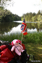 Photo: (Year 2) Day 332 - Pippa the Pig Relaxing at Lakeside Campsite