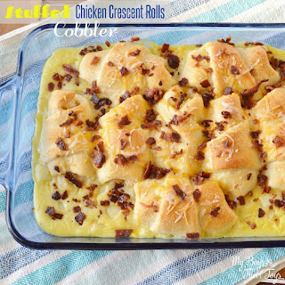 Stuffed Chicken Crescent Rolls Cobbler –