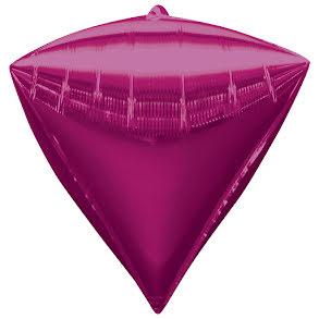 Folieballong, diamant rosa